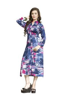 LadyIndia.com # Cotton Kurti, Designer Printed Multicolor Rayon Kurti For Women, Kurtis, Kurtas, Cotton Kurti, https://ladyindia.com/collections/ethnic-wear/products/designer-printed-multicolor-rayon-kurti-for-women