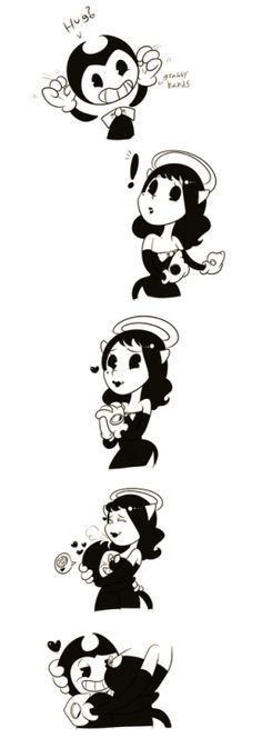 Alice angel and Bendy BATIM