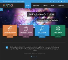 This flat WordPress theme has custom shortcodes and widgets, over 500 Google Fonts, 10 predefined skins, a colour picker for unlimited colours, 2 layout options, a responsive design, and more.