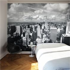 A view of Manhattan? The Brooklyn Bridge?  Or Paris perhaps.  Removable wall murals will give you a new view, instantly!