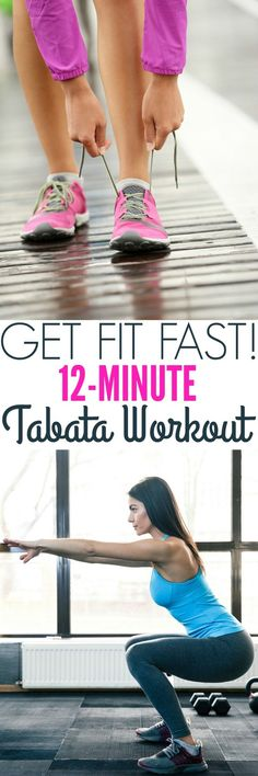 Get fit FAST with a 12-Minute Tabata Workout! There's no equipment necessary for this cardio and strength exercise routine that you can do anywhere!