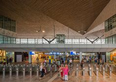 Rotterdam Centraal station redevelopment by Benthem Crouwel Architects, MVSA Architects and West 8