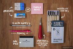 Tutorial: How to carve eraser stamps by Wedgienet.net - Illustration / Design, via Flickr