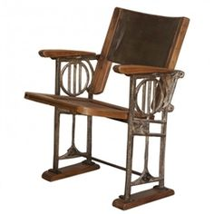Industrial Loft Cinema Seat - vintage style theater seat is amazing!