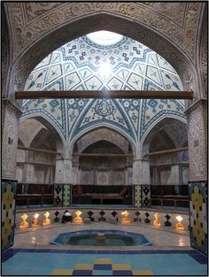 Hammam Sultan Amir Ahmad Traditional Old Historical Bath House 3,Kashan,Iran