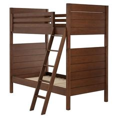 Uptown Bunk Bed (Brown) | The Land of Nod: Can get a trundle for it