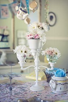 Make: Tea Cup Candelabra