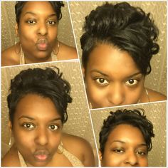 Stepping out for a night on the town rocking my pixie cut
