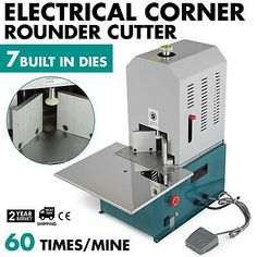 Electrical Corner Rounder Cutter Machine with 7 Dies w/Drawer for Cards PVC Film in Business & Industrial, Printing & Graphic Arts, Bindery & Finishing Equipment, Paper Cutters & Trimmers Dewatering Pumps, Office Electrics, Corner Cutter, Mechanical Engineering Design, Aluminum Crafts, Cutter Machine, Milling Machine, Cold Rolled, Plastic Card