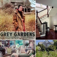 Beach Cottage Style – Grey Gardens Shabbiest Chic in the Hamptons!  Visit us on Facebook for the full story and more beautiful photos.