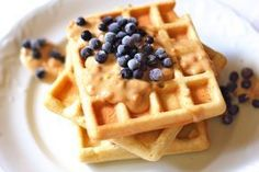 gofry bezglutenowe kokosowe Waffles, Pancakes, Gluten Free Recipes, Healthy Recipes, Healthy Sweets, Lchf, Paleo, Food And Drink, Vegan