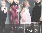 NEUES Sugar n Spice Kleid und Strampler-Muster und Tutorial PDF 12m-12y Tunika Kleid Jumper Spielanzug einfach nähen