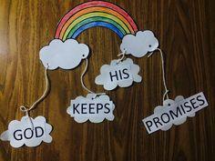 God keeps his promises. Easter rainbow