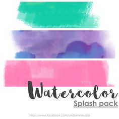 Diseño audaz: Watercolors splash PNG free Fondos Watercolors PNG Splash pack watercolor