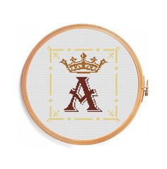 Monogram of King. Monogram of Queen. by PatternsCrossStitch