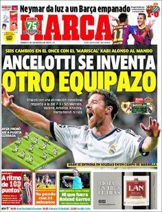 Los Titulares y Portadas de Noticias Destacadas Españolas del 2 de Noviembre de 2013 del Diario Deportivo MARCA ¿Que le pareció esta Portada de este Diario Español?