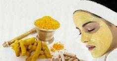 Turmeric Face Mask Recipe for Glowing Skin, Acne, Rosacea, Eczema and Dark Circles Turmeric For Skin, Turmeric Face Mask, Turmeric Facial, Turmeric Root, Facial Masks, Facial Hair, Spa Facial, Facial Cupping, Diy Beauty Mask