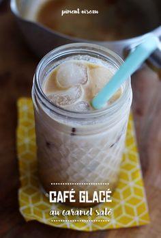 café glacé au caramel salé - iced coffee with salted caramel