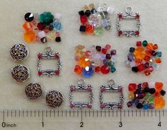 100 Assorted Swarovski Crystal Beads Bicone Marguerite Round Cube Charms Coins #Assorted