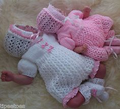 Knitting PATTERN to KNIT 'Molly'  Baby Girls or Reborn Romper, Bonnet & Booties
