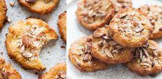 Słodziutkie i chrupiące, z aromatycznym kokosem i migdałami, zupełnie bez cukru i glutenu – zasmakują każdemu! Ciasteczka jaglane – najlepsze ze szklanką mleka migdałowego lub prosto z lunchboxa w pracy. Tylko z 5 składników! Easy Blueberry Muffins, Blue Berry Muffins, French Toast, Vegan Recipes, Good Food, Cookies, Meat, Breakfast, Narnia