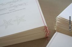 DIY Stitched Wedding Programs: a tutorial | CHECK OUT MORE IDEAS AT WEDDINGPINS.NET | #diyweddings