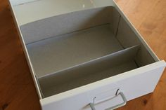 cereal box drawer organizer. 1st comment also suggests using empty beer bottle 6 pack to organize socks.
