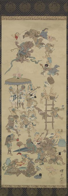 Playful Demons by Kawanabe Kyosai, (1831 - 1889)