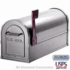 Salsbury Industries - 4800 Series Post-Mount Deluxe Rural Mailbox - Made of heavy duty, rust resistant aluminum and comes pre assembled for easy installation. Compartment size is in. Cheap Mailboxes, Home Mailboxes, Rural Mailbox, Modern Mailbox, Mailbox Landscaping, Landscaping Retaining Walls, Wall Mount Mailbox, Mounted Mailbox, Residential Mailboxes