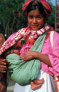 Huastec girl with child  by Jean-Gerard Sidaner