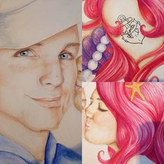 Close ups :) Finished!! A painting for @samanthaaaa_d #thelittlemermaid #ariel #art #artwork #artistsmuseum #art_4_shoutout #art_spotlight #instaart #artistic #dailyarts #dailywatercolor #dailydrawoff #willdraw #threadless #tattoo #watercolor #painting #vintage #beautiful #beauty #couple #mermaid #sailor #siren #talentedpeopleinc #redhed #hair #drawing #blvart #blueeyes by indecorousart