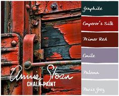 Annie Sloan Chalk Paint colors to create the patina on this red door Chalk Paint Projects, Chalk Paint Furniture, Hand Painted Furniture, Paint Ideas, Furniture Design, Annie Sloan Chalk Paint Colors, Annie Sloan Paints, Painting Tips, Painting Techniques