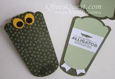 Embossed Alligator Card