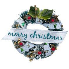 "Miniature ""Merry Christmas"" Wreath"