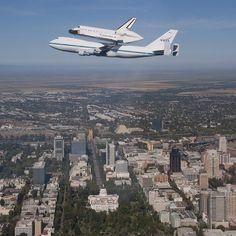 Endeavour over the California State Capitol in Sacramento. #NASA #SpotTheShuttle @OV105 #California #Sacramento - @camillasdo- #webstagram