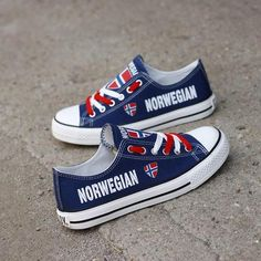 1e89a0cc86 Custom Printed Low Top Canvas Shoes - Norwegian Pride Norwegian Flag