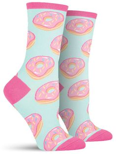 Donut Socks - mint/pink
