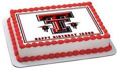 Texas Tech University 1 Edible Birthday Cake Topper OR Cupcake Topper, Decor