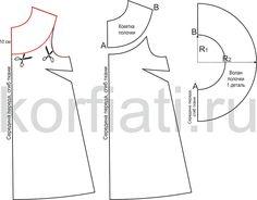 Выкройка расклешенного платья