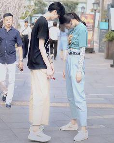 Kpop Couples, Cute Couples, Ulzzang Couple, Fashion Couple, Sweet Couple, Streetwear Fashion, Couple Goals, Mom Jeans, Street Wear