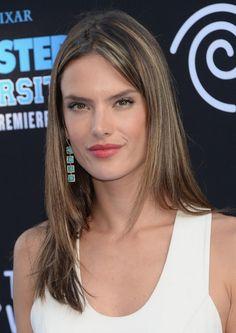 Alessandra Ambrosio Long Hairstyle: Straight Highlight Haircut