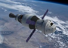 Orion, with its ATV-derived Service Module can be seen connected to its…