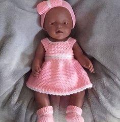 bef3eafe3dc0cb 16 beste afbeeldingen van poppenkleertjes haken - Baby doll clothes ...