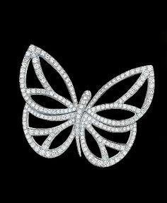 Van Cleef & Arpels Diamond Butterfly Clip