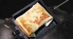 Pie Iron Recipe - Chicken Chimichangas - 50 Campfires
