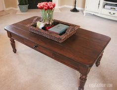 How to strip and re-stain wood furniture w/o sanding. I have used products before, but they were So smelly