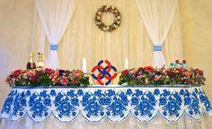 Wedding & Gzhel.Фотогалерея - Свадьба в стиле Гжель