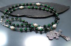Sterling Silver Rosary Angel Archangel Saint Raphael  Rosary beads  catholic rosary by Rosenkranz-Atelier by RosenkranzAtelier on Etsy