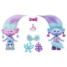 DreamWorks Trolls Satin and Chenille's Style Set : Target