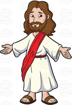 Jesus Christ Opening His Arms To Welcome Everyone - Catechism Bible Story Crafts, Bible Stories, Jesus Cartoon, Jesus Pictures, Sunday School Crafts, Funny Bunnies, Cartoon Images, Kirchen, Kids Church